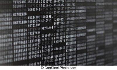 Binary Code Screen - Twinkle comptuer data code screen...