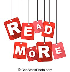 read more, red vector read more, flat vector read more,...