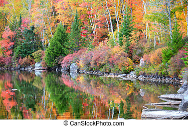 Fall reflections  in vermont country side