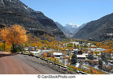 Colorado rocky mountains - Scenic Ouray city in Colorado...