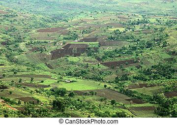 Rural Landscape - Uganda, Africa - Rural Landscape in Uganda...