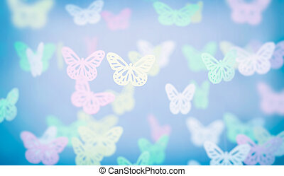 Abstract butterfly background, cute little baby room...