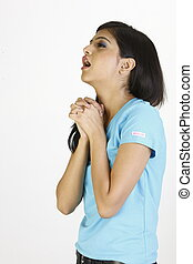 teenage girl with cough