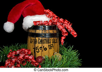 After Christmas Sale - Christmas sale advertisement on...