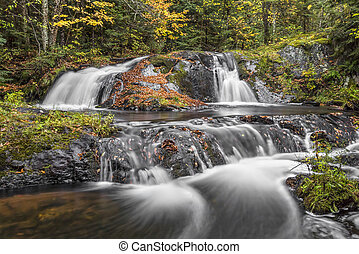 Duppy Falls in the U.P. - Lower Duppy Falls flows over...