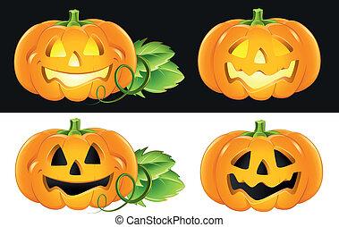 Different Halloween Pumpkins