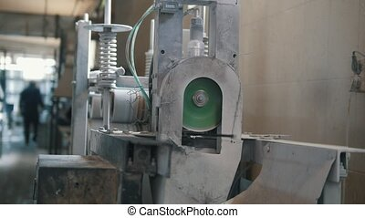 Plant for producing fiberglass rods - manufacture of...