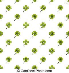 Green leaf clover pattern