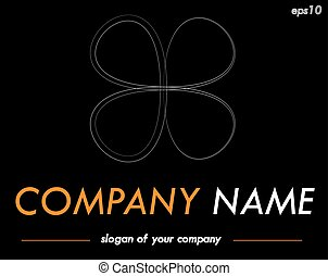 Vector logo template, ready logotype for a company or a brand