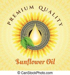 Sunflower oil label
