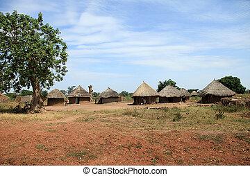 Dirt Road - Uganda, Africa - Small Rural Village in Uganda -...