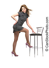 sitting on stool girl - sitting on stool young and beautiful...