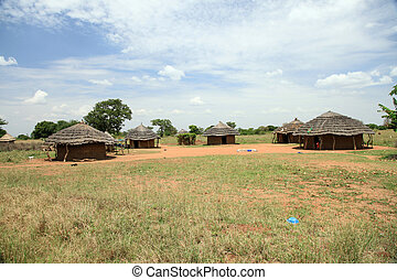 Dirt Road - Uganda, Africa - Small Rural Village in Uganda -...