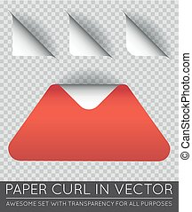 Vector Triangle with Paper Curl