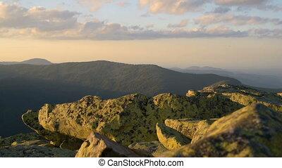 Mountains evening landscape - Sunset Mountains Landscape,...