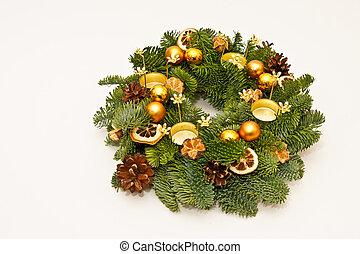 Christmas wreath - Christmas advent wreath decoration