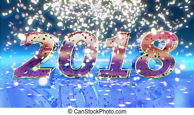 New Year 2018 Animation - 2018 New Year animation. Best for...