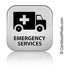 Emergency services special white square button - Emergency...