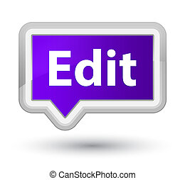 Edit prime purple banner button - Edit isolated on prime...
