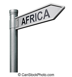 road sign to Africa
