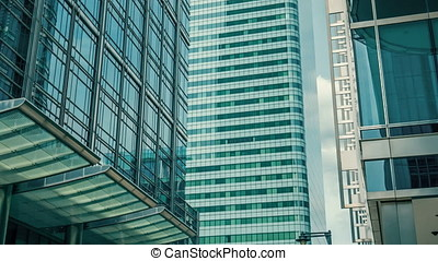 London glass skyscrapers office buildings, Brexit - London...