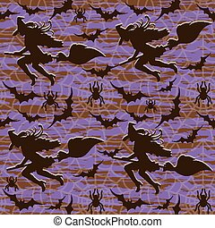 Happy Halloween pattern, vector illustration