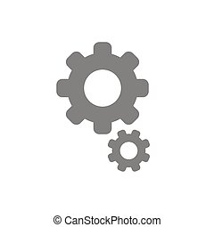 Flat design style vector of gears icon on white - Flat...