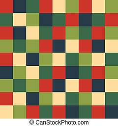 Seamless Christmas check wrapping paper pattern