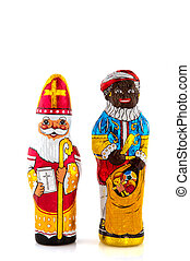 Dutch Sinterklaas and Black Piet - Dutch chocolate...