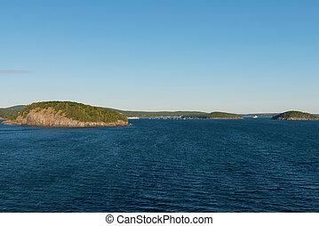Frenchman Bay islands - Islands in Frenchman Bay near Bar...