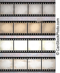 vintage scratched film strips - vintage scratched seamless...