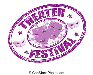 theater festival stamp