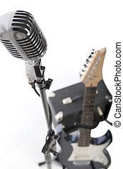 vendemmia, microfono, Elettrico, chitarra, ampere