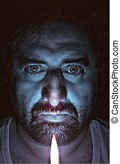 Candle Selfie 1 (version 2) - Face shot using a candle with...