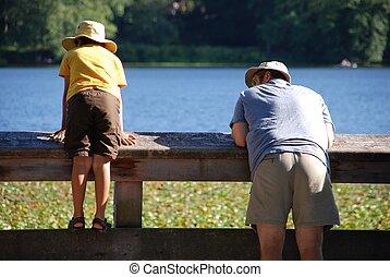 Happy family at park