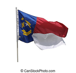 North Carolina Flag - Fluttering North Carolina state flag...