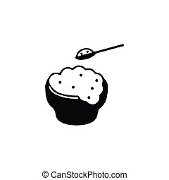 Isolated Eating Icon. Rice Vector Element Can Be Used For...