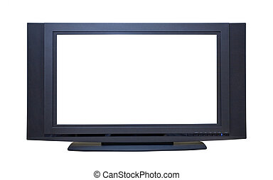 Modern HDTV - High Definition Widescreen LCD TV; isolated,...