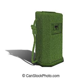 燃料, ポンプ, 緑, イラスト, 3D