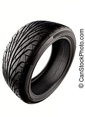 Tyre - Auto tyre isolated on plain background