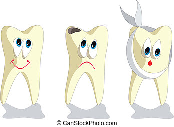Tooth cartoon set 001