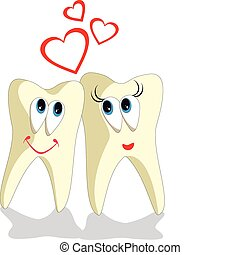Tooth cartoon set 002