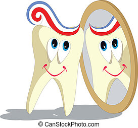 Tooth cartoon set 004