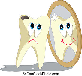 Tooth cartoon set 006