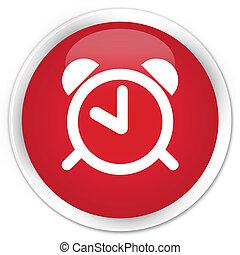 Alarm clock icon premium red round button - Alarm clock icon...