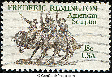 Frederric Remington - UNITED STATES OF AMERICA - CIRCA 1981:...