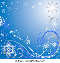 Blue-silvery christmas frame - Blue christmas frame with...