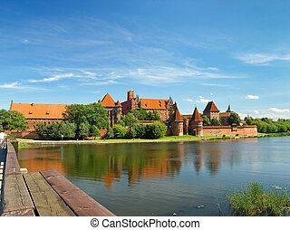 The castle Malbork - The old Gothic castle in Malbork,...