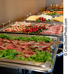 lunch in hotel  - Salad buffet by hotel restaurant