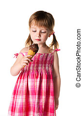 little girl with the ice-cream